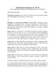 Administratīvais līgums ar SIA Vērsis Ro - Konkurences padome
