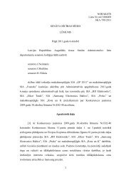 Augstākās tiesas Senāta lēmums - Konkurences padome