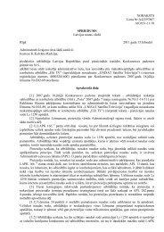 Administratīvās rajona tiesas spriedums - Konkurences padome