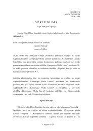 Augstākās tiesas senāta spriedums - Konkurences padome