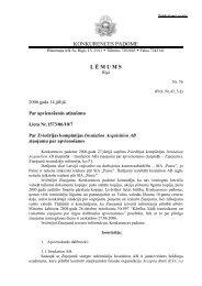 lēmums PDF - Konkurences padome