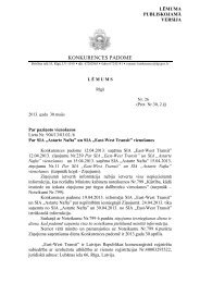KP lēmums - Konkurences padome