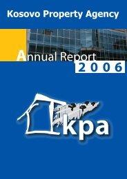 Annual Report 2006 - Kosovo Property Agency