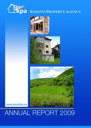 Annual Report 2009 - Kosovo Property Agency