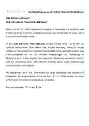 """Zertifikatslehrgang """"Christliche Persönlichkeitsbildung"""" 022 ... - KPHE"""