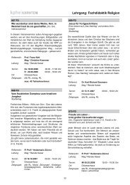 Lehrgang: Fachdidaktik Religion - KPHE