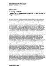 PDF-Datei, 58 KB - Religionspädagogisches Institut Loccum