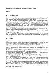 Katholischer Hochschulverein der Diözese Gurk Statut § 1 ... - KPHE
