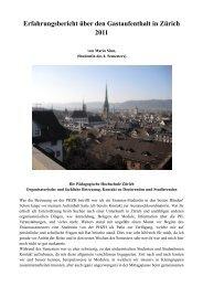 Auslandssemester in Zürich - Kirchliche Pädagogische Hochschule ...