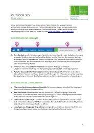Neuerungen in Outlook365