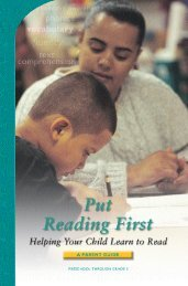 Put Reading First - Helping your child learn to read