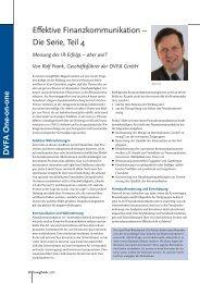 Effektive Finanzkommunikation – Die Serie, Teil 4 - DVFA