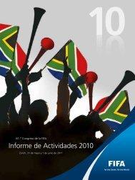 Informe de Actividades 2010 - FIFA.com