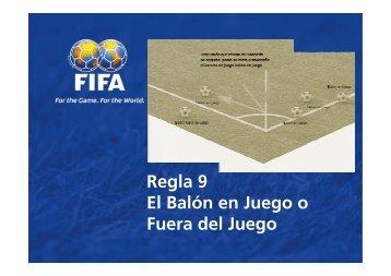 Regla 9 El Balón en Juego o Fuera del Juego - FIFA.com
