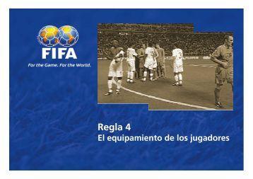 Regla 4 - El equipamiento de los jugadores - FIFA.com