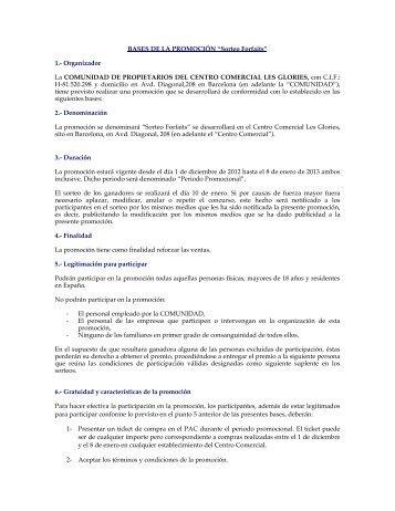 """Page 1 BASES DE LA PROMOCIÓN """"Sorteo Forfaits"""" 1 ..."""