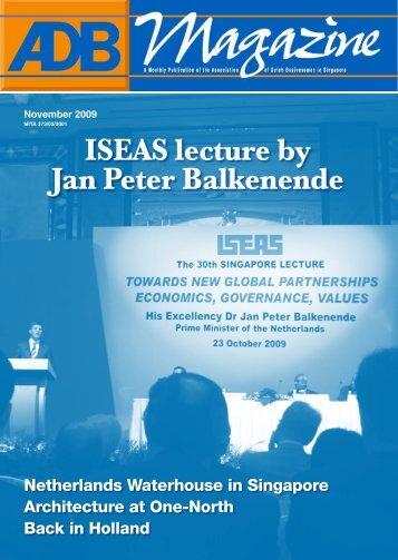 ISEAS lecture by Jan Peter Balkenende - Association of Dutch ...