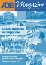 Dutch students in Singapore - Association of Dutch Businessmen