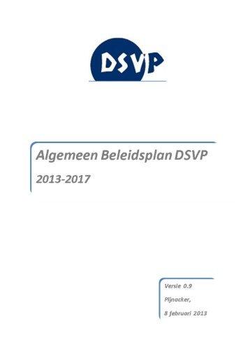 Algemeenbeleidsplan DSVP versie 0.9