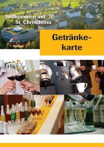 Getränke - Konferenzzentrum Pilgermission St. Chrischona