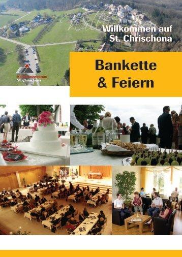 Bankette & Feiern - Konferenzzentrum Pilgermission St. Chrischona