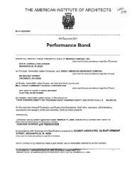Performance Bond - KP Meiring Company