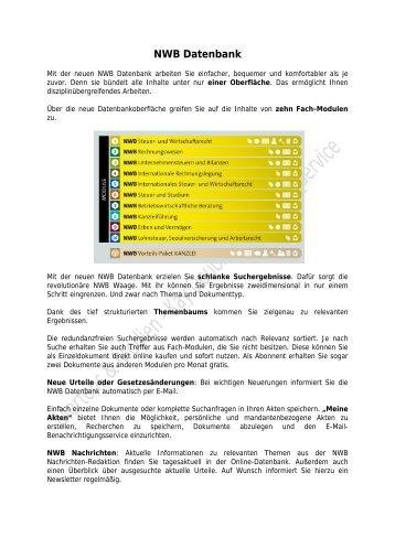 NWB Datenbank - mertens & medien