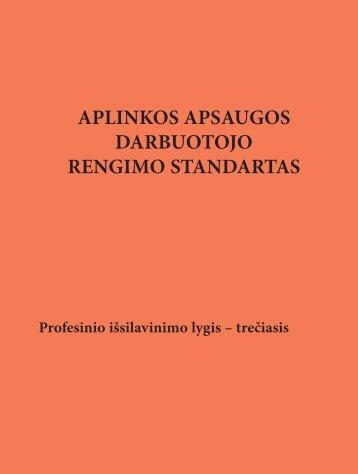 Aplinkos apsaugos darbuotojo rengimo standartas - Kvalifikacijų ir ...
