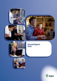 Annual Report 2010 - KPN