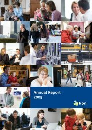 Annual Report 2009 - KPN