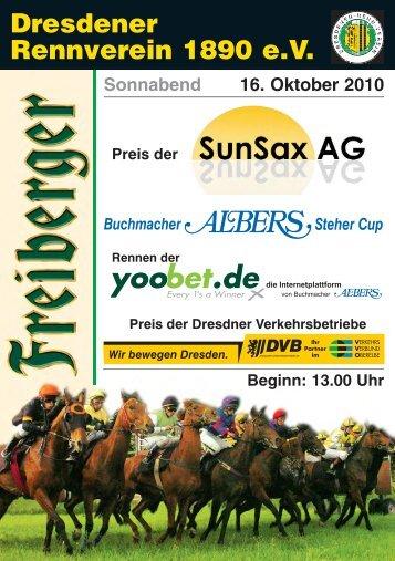 8 Rennen der yoobet.de - Dresdener Rennverein 1890 e.v.