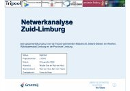 Netwerkanalyse Zuid-Limburg - Provincie Limburg