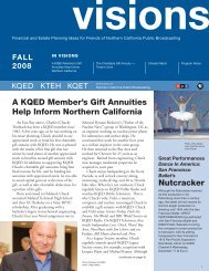 A KQED Member's Gift Annuities Help Inform Northern California ...