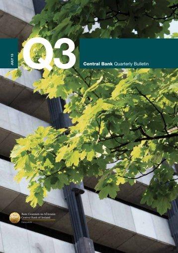 Quarterly Bulletin Q3 2013