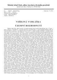 VEŘEJNÁ VYHLÁŠKA ÚZEMNÍ ROZHODNUTÍ - Karlovarský kraj