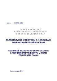 plán rozvoje vodovodů a kanalizací moravskoslezského kraje