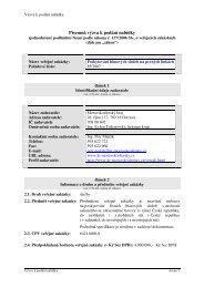 Písemná výzva k podání nabídky - Moravskoslezský kraj
