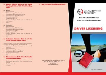 Drivers Licensing - Kenya Revenue Authority