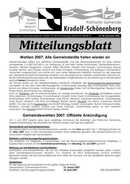 Abstimmungswochenende vom 10. Juni 2018 Verwaltung am 1.