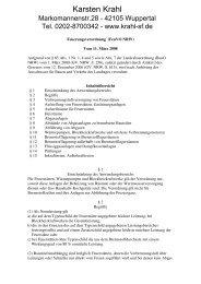 Feuerungsverordnung NRW - Karsten Krahl