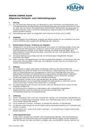 KRAHN CHEMIE GmbH Allgemeine Verkaufs- und Lieferbedingungen