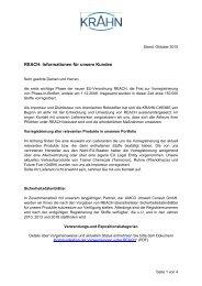 REACH: Informationen für unsere Kunden - Krahn Chemie GmbH