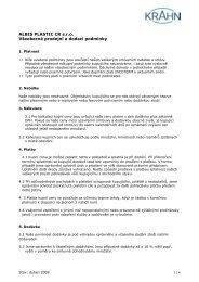 ALBIS PLASTIC CR s.r.o. Všeobecné prodejní a dodací podmínky