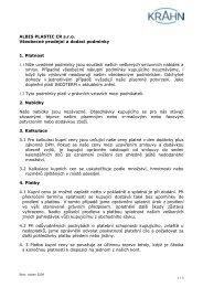 ALBIS PLASTIC CR s.r.o. Všeobecné prodejní a dodací podmínky 1 ...