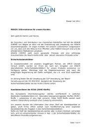 Seite 1 von 4 Stand: Juli 2011 REACH - Krahn Chemie GmbH
