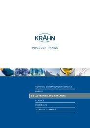 PROdUCT RANGE - Krahn Chemie GmbH