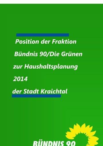 Haushaltsrede der GRÜNE-Fraktion - Stadt Kraichtal