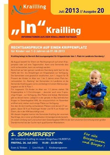für Kinder von 1-3 Jahren ab 01.08.2013 - Gemeinde Krailling