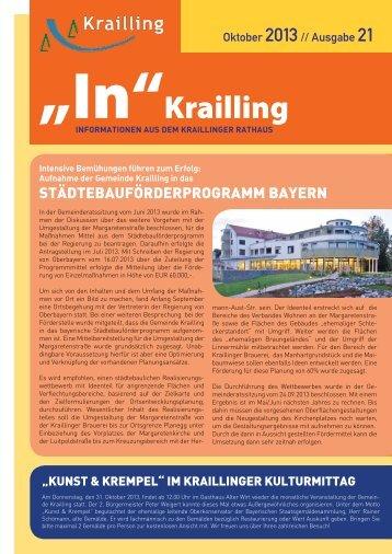 """""""In"""" Krailling / Ausgabe 21 - Gemeinde Krailling"""