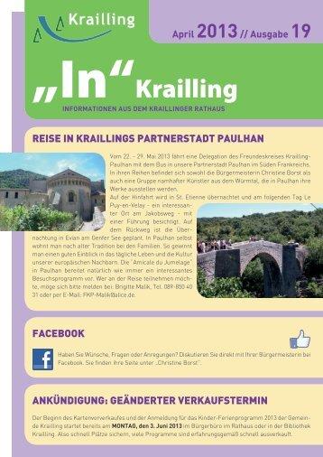 """""""In"""" Krailling / Ausgabe 19 - Gemeinde Krailling"""